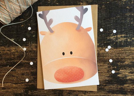 Christmas Card - Rudolf