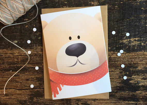 Christmas Card - The Chilly Bear