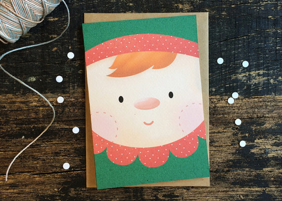 Christmas Card - Little Elf